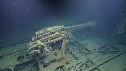 U-166 off the Louisiana coast. PHOTOGRAPH BY OCEAN EXPLORATION TRUST