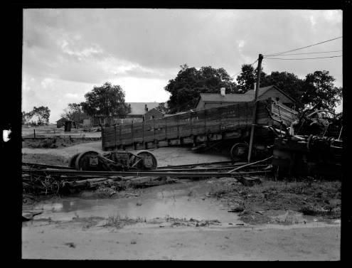 Flood damage in Poydras, 1922. Source: Louisiana Digital Library