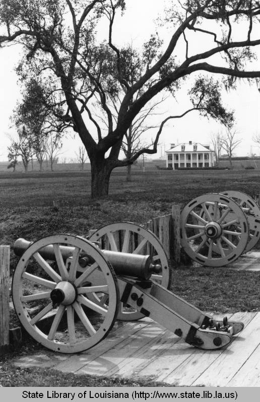 Beauregard House at Chalmette Battlefield, 1960s. Source: Louisiana Digital Library