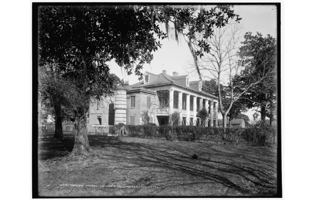MacCarthy Plantation (Bonzano House), late 1890s. This plantation was the headquarters for Andrew Jackson during the Battle of New Orleans. It burned down and the Chalmette Port occupies its current location. Source: Library of Congress.