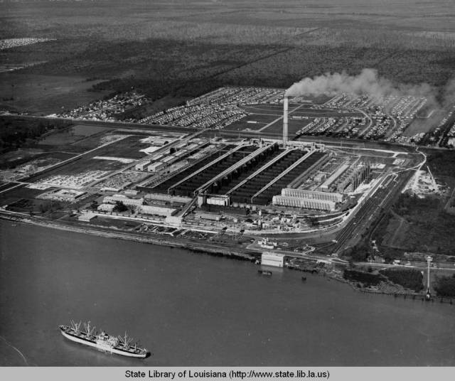 Kaiser Aluminum Plant, Chalmette, 1950s. My grandfather was working there at the time. Source: Louisiana Digital Library