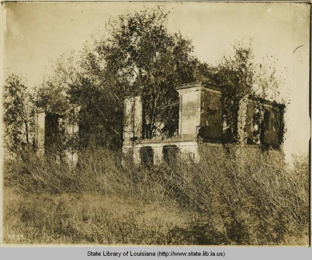 De la Ronde ruins, date unknown. Source: Louisiana Digital Library