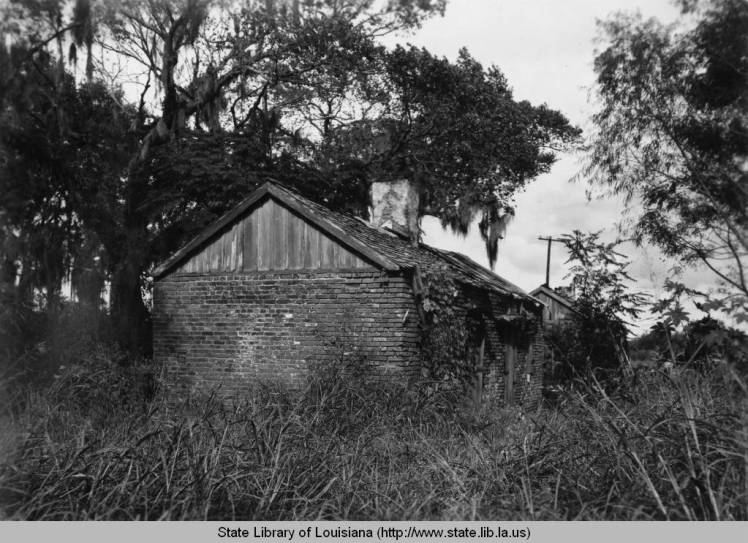 Old slave quarters in Violet, 1930s. Source: Louisiana Digital Library