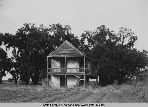 Remnants of Villere Plantation, 1930s. I remember playing on what's left of these ruins as a kid. Source: Louisiana Digital Library