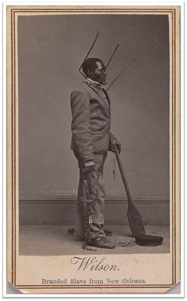 1863 - Branded Slave from New Orleans