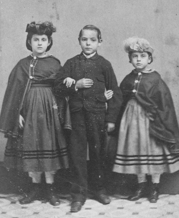 1863 - Rebecca, Charley and Rosa, slave children. They are the offspring of white fathers through two or three generations