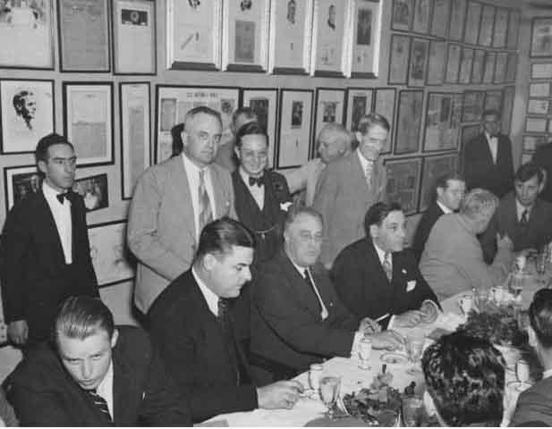1937 - President Franklin D. Roosevelt at banquet at Antoine's