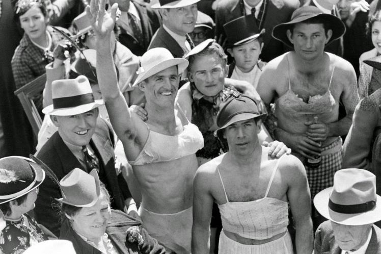 1938 - Mardi Gras Revelers, New Orleans