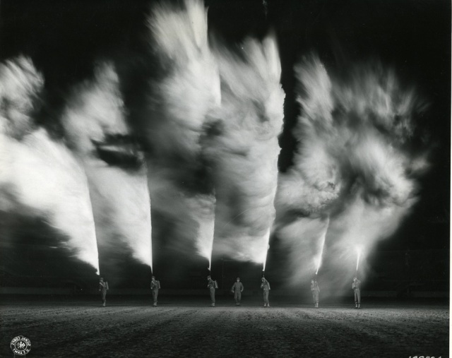 1942 - Flame throwers on exhibit in New Orleans for the Army War Show