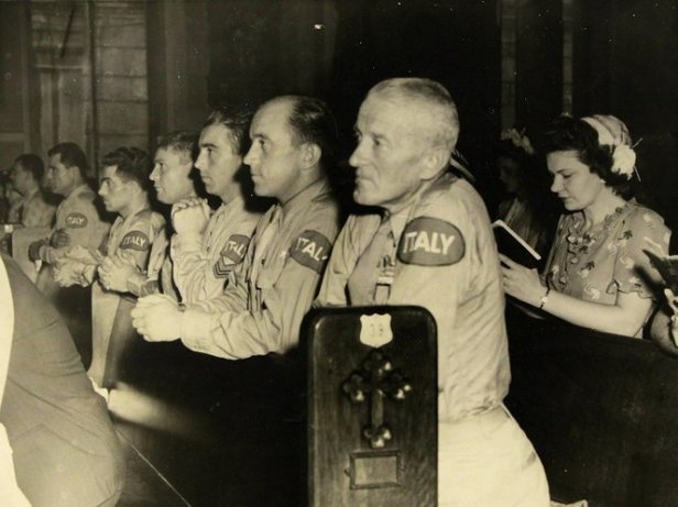 1944 - Italian POWs attend Mass at St Louis Cathedral