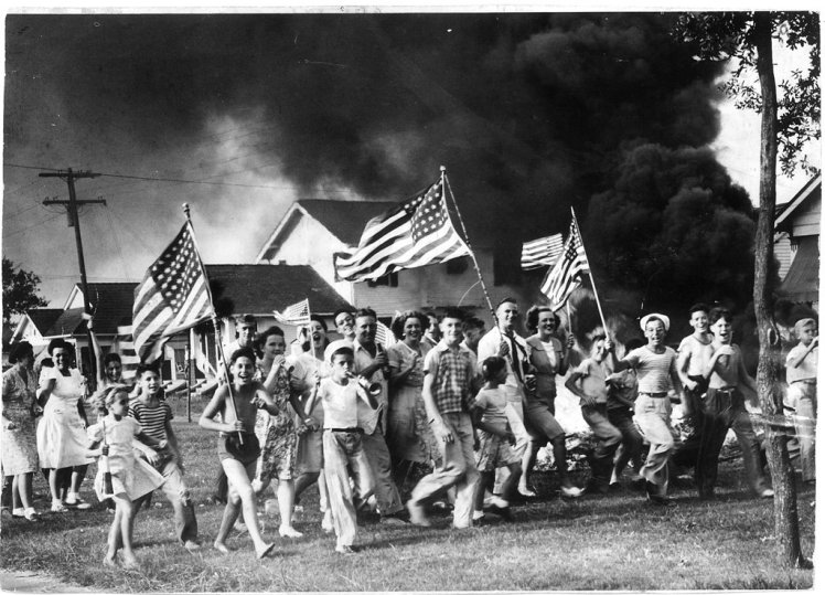 1945 - Celebrating the end of WWII in the St. Roch neighborhood