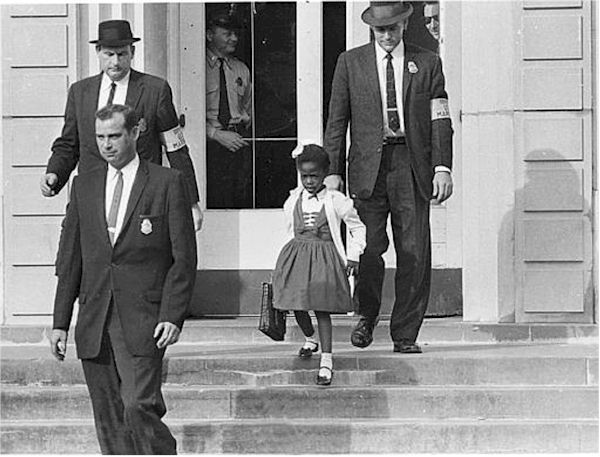 1960 - U.S. Marshals escorted Bridges to and from school