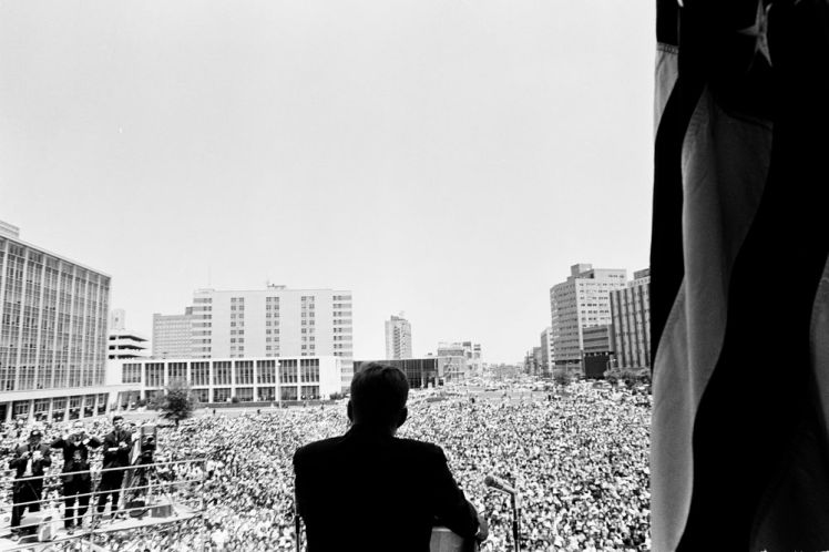1962 - President John F. Kennedy Speaks at City Hall