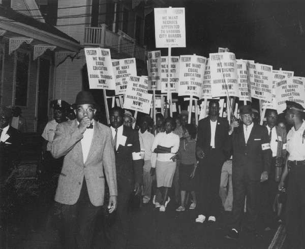 1963 - Civil Rights march from Shakspeare Park to City Hall