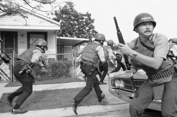 1970 - NOPD raiding Black Panthers headquarters