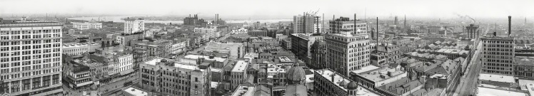 Ca. 1910 - New Orleans and Mississippi river from Hotel Grunewald