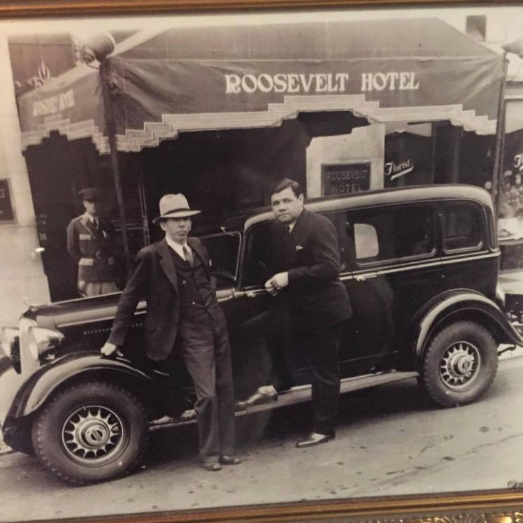 ca. 1920s Babe Ruth and Seymour Weiss outside the Roosevelt